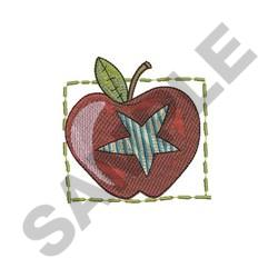 Apple With Star embroidery design