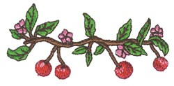 Cherry Branch embroidery design