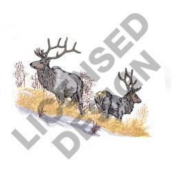 ELK SCENE embroidery design
