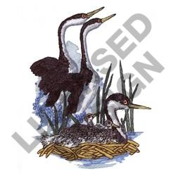 GREBE SWAINSONS embroidery design