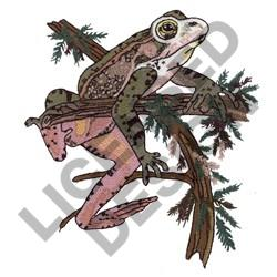 RED LEGGED TREE FROG embroidery design