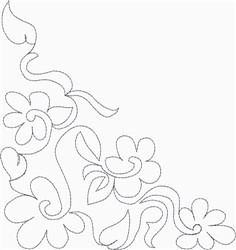 """Daisy 5"""" and 6"""" Triangle embroidery design"""