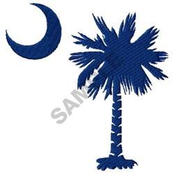 Palmetto Tree embroidery design