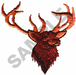 BUCK DEER WITH ANTLERS embroidery design