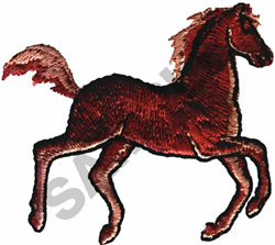 RUNNING FOAL embroidery design