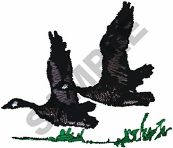 GEESE IN FLIGHT embroidery design
