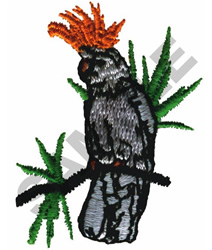 COCKATOO ON A PERCH embroidery design