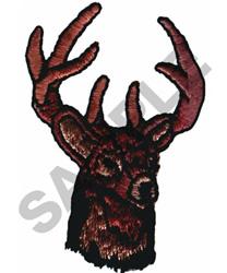 BUCK DEER HEAD embroidery design