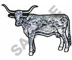LONGHORN CATTLE embroidery design