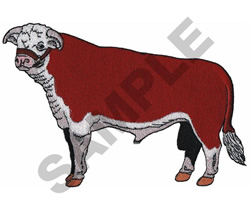 HERE BULL embroidery design