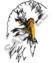 EAGLE HEAD OUTLINE embroidery design