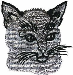 LYNX CAT HEAD embroidery design
