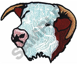 HERE BULL HEAD embroidery design