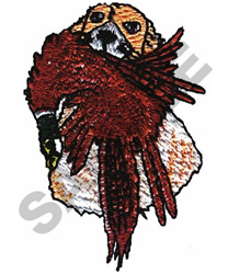 HUNTING DOG AND BIRD embroidery design