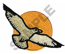 SEAGULL FLYING embroidery design