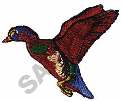MALLARD IN FLIGHT embroidery design