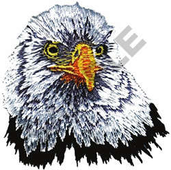 BALD EAGLE HEAD embroidery design