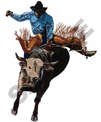 BULLRIDER embroidery design