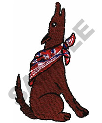 COYOTE WITH BANDANNA embroidery design