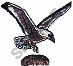 PERCHING SEAGULL embroidery design