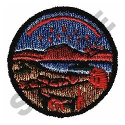 WESTERN SCENE embroidery design