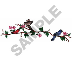 BIRDS ON A BRANCH embroidery design