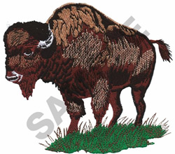 AMERICAN BISON embroidery design