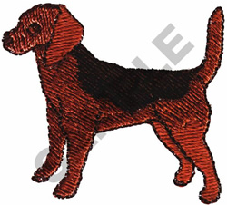 BEAGLE DOG embroidery design