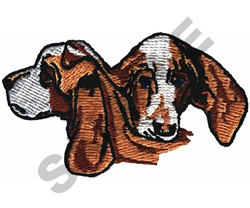 BEAGLE PUPPY HEADS embroidery design