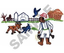 CRAZY FARM APPLIQUE embroidery design