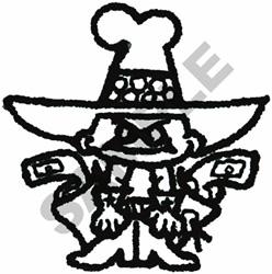 COWBOY KID CARTOON embroidery design
