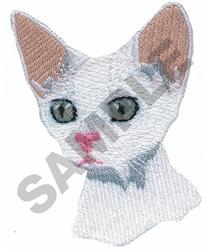 DEVON REX CAT embroidery design
