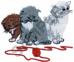 THREE LITTLE KITTENS embroidery design