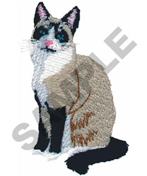 SNOWSHOE CAT embroidery design