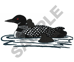 LOON FAMILY embroidery design