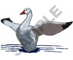 SNOW GOOSE embroidery design