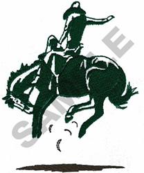 SADDLE BRONC & RIDER embroidery design