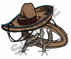 MEXICAN COWBOY GEAR embroidery design