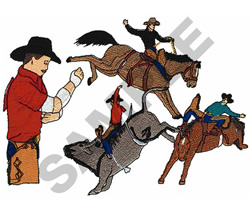 ROUGH STOCK RODEO EVENTS embroidery design