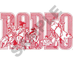 RODEO LOGO embroidery design