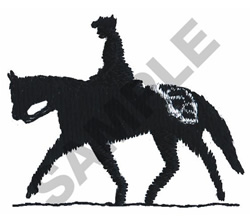 ENGLISH RIDER ON APPALOOSA embroidery design