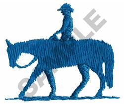 BOY WESTERN PLEASURE RIDER embroidery design