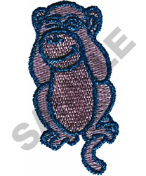 SEE NO EVIL embroidery design