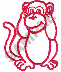 HEAR NO EVIL OUTLINE embroidery design
