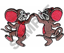 DANCING MICE embroidery design