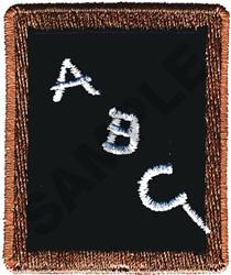 ABC ON CHALK BOARD embroidery design