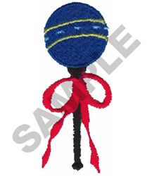 RATTLE embroidery design