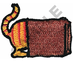 CAT IN A SACK embroidery design