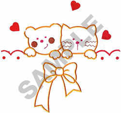 KITTYS PEAKING APPLIQUE embroidery design