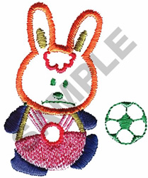 SOCCER BUNNY embroidery design